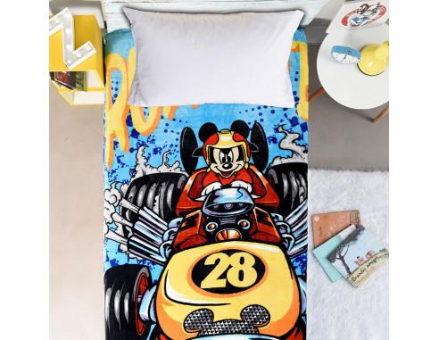 Frazada Flannel Mickey Sobre Ruedas...